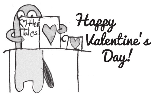 Valentine otter illustration by Peyton W.